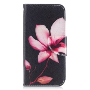 Apple iPhone X/XS PU læder Flipcover m. Kortholder – Smuk Blomst