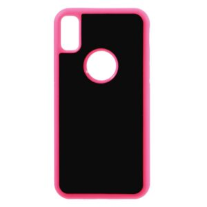 Apple iPhone X/XS Anti-Gravity TPU Cover – Pink/æble