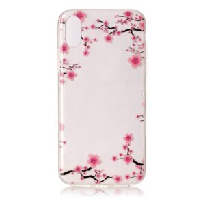 Apple iPhone X/XS TPU Cover – Ferskenblomster