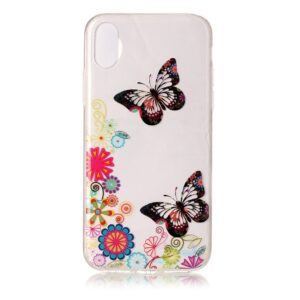 Apple iPhone X/XS TPU Cover – Sommerfugle og Blomster