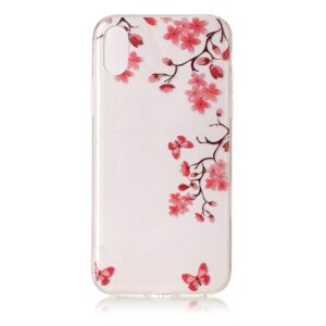 Apple iPhone X/XS TPU Cover – Røde Blomster
