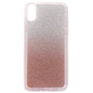 Apple iPhone X/XS TPU Cover m. Glimmer – Rosaguld