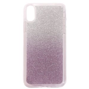 Apple iPhone X/XS TPU Cover m. Glimmer – Lys lilla
