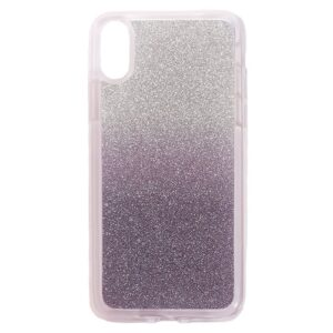 Apple iPhone X/XS TPU Cover m. Glimmer – Mørk lilla