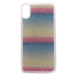 Apple iPhone X/XS TPU Cover m. Glimmer – Horisontale Striber