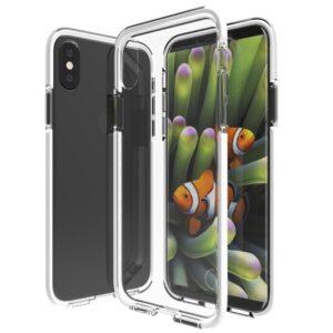 Apple iPhone X/XS Slim Hybrid Cover – Hvid/Gennemsigtig