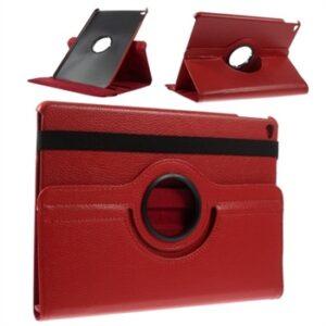 Apple iPad Air 2 Rotating Litchi Smart Cover Stand – Rød