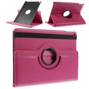 Apple iPad Air 2 Rotating Litchi Smart Cover Stand – Rosa