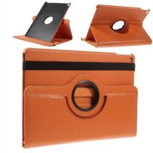 Apple iPad Air 2 Rotating Litchi Smart Cover Stand – Orange