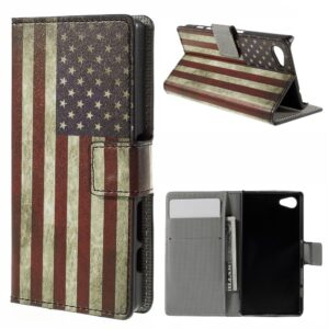 Sony Xperia Z5 Compact Design Flip Cover m. Pung – Stars & Stripes