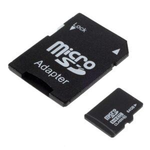 64GB Micro SDHC klasse 10 hukommelseskort M. Adapter