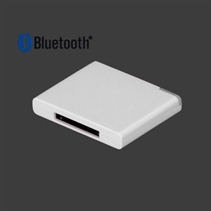 Bluetooth Music Receiver Adapter Til 30 Pin Dock Speaker – Hvid