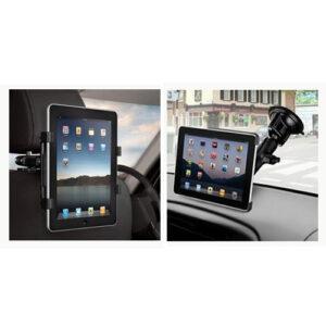 2 i 1 Tablet Bilholder til nakkestøtte eller rude