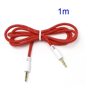 3.5mm – 3.5mm Audio Kabel – Rød