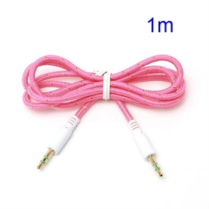 3.5mm – 3.5mm Audio Kabel – Pink