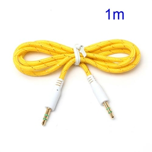 3.5mm – 3.5mm Audio Kabel – Gul