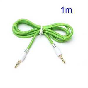 3.5mm – 3.5mm Audio Kabel – Grøn