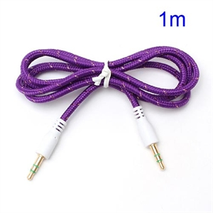 3.5mm – 3.5mm Audio Kabel – Lilla