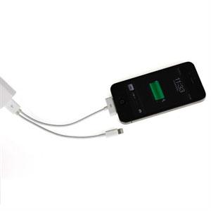 Lightning og 30 pins USB KOMBI oplade og datakabel til Apple – Hvid