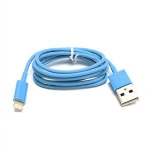 Lightning USB Oplade- og Datakabel til Apple – Blå 1M