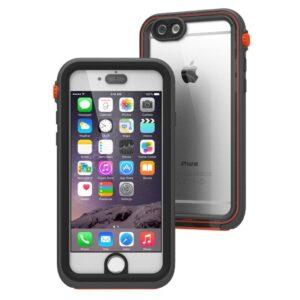 Waterproof Case 6 Plus- Sort/orange