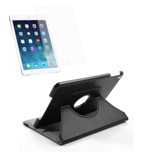 iPad Air Pakke – Rotating Cover & Skærmbeskyttelse  – Sort