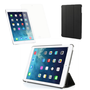 iPad Air Pakke – Smart Cover & Skærmbeskyttelse  – Sort