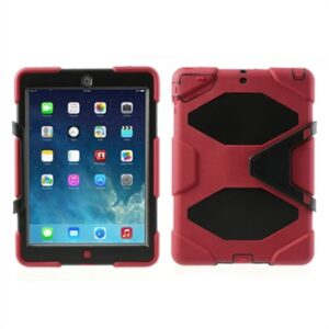 Anti-Rain Heavy Duty Case Til Apple iPad Air – Rød