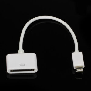 Lightning Til 30-Pin Adapter Kabel- Hvid 13cm
