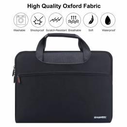 13,3″ MacBook Pro sort blødt sleeve med lynlås og 2 ekstra lommer Sleeve størrelse 13″