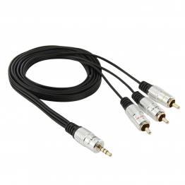 3.5mm minJack til 3 RCA han lyd kabel 1,5m