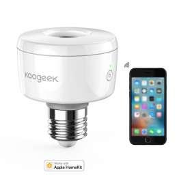 Koogeek Wi-Fi Smart E26 Socket med HomeKit, Alexa og Google Home (SK1)