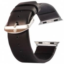 Læder rem Apple watch Farve Sort, Størrelse 38mm & 40mm