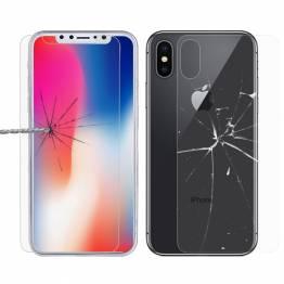 Beskyttelsesglas til iPhone X/Xs for og bag
