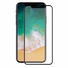 Beskyttelsesglas til iPhone X/Xs med sort kant 3d