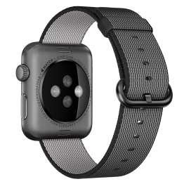 Flettet Nylon rem til Apple watch sort 42mm og 44mm Størrelse 42mm og 44mm